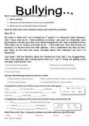 Bullying Worksheets for Kindergarten http://www.eslprintables.com/vocabulary_worksheets/school/bullying/BULLYING_1_5_09__224164/