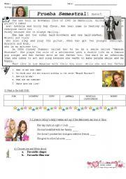 English Worksheets: Hannah Montana