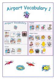 English Worksheet: AIRPORT vocabulary 1
