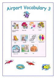 English Worksheet: AIRPORT vocabulary 3