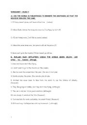 English worksheet: worksheet