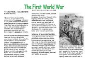 English Worksheets: Topic: The First World War