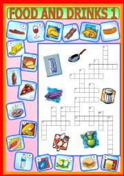 English Worksheet: Food and Drinks 1