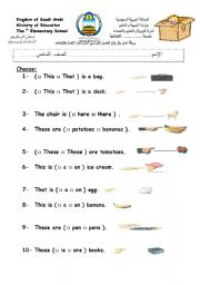 15 FREE ESL this and that worksheets