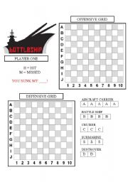 photograph about Battleship Game Printable named Battleship worksheets