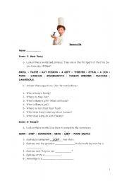 English Worksheets: Ratatouille