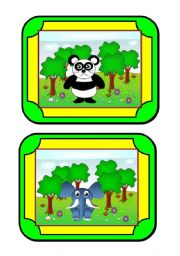 Habitat Cards (2/8) - animals