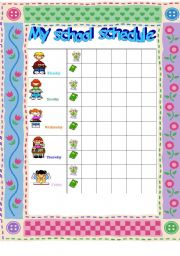 English Worksheets: class schedule