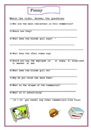 English worksheet: beauty is nothing without brains