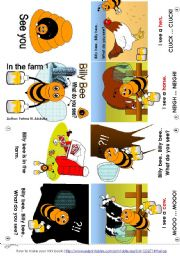 English Worksheets: Billy Bee In the farm 01 [C] (mini-book)