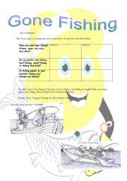 English Worksheets: Gone Fishing