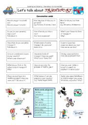 English Worksheets: Let�s talk about TRANSPORT