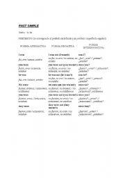 English Worksheets: Pas simple