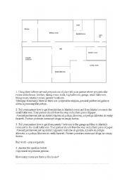 English Worksheet: House description part 1