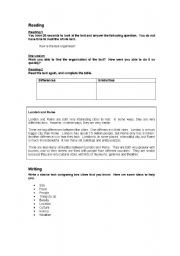 English Worksheets: Comparing Two Cities