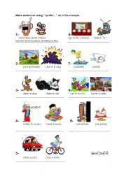 English Worksheets: I prefer...