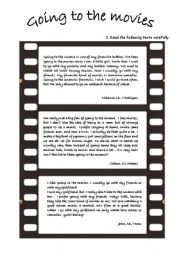 English Worksheet: Going to the movies