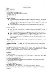 Passive active voice lesson plan