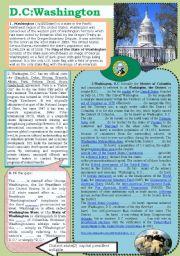 English Worksheet: D.C:Washington