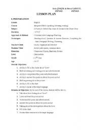 English Worksheets: the dove