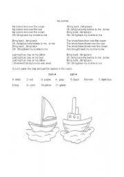 English Worksheets: my bonnie