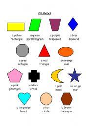 shapes - ESL worksheet by fleur