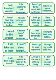 English Worksheets: 1st Conditional Dominoes (4 pages)
