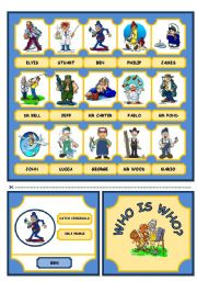 English Worksheet: WHO IS WHO? GAME (JOBS AND OCCUPATION) - PART 1