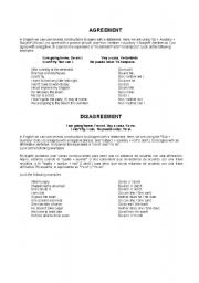 English Worksheets: AGREEIND AND DISAGREEING