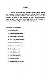 English Worksheets: cedric
