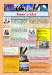 English Worksheets: Tower Bridge. (2 pages)