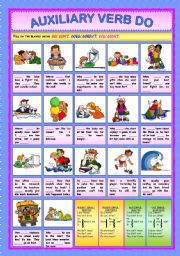 English Worksheets: Auxiliary Verb Do