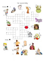 English Worksheets: Xwords the human body