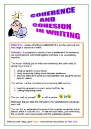 how to achieve coherence in writing