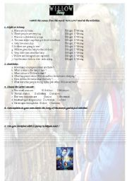 English Worksheets: Study a movie - Willow