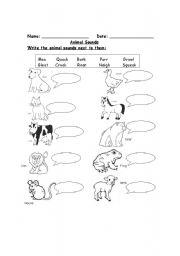 animal sounds esl worksheet by suseee. Black Bedroom Furniture Sets. Home Design Ideas