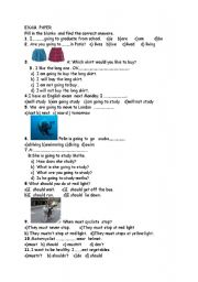 English Worksheet: SBS Test For 6th Grade