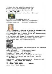 English Worksheet: SBS Test For 7th Grade Unit (10-11-12)