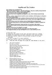 English Worksheets: Angelika and the Crushers