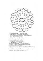 English Worksheets: Human sounds