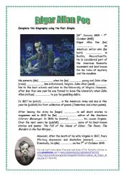 English teaching worksheets: Edgar Allan Poe
