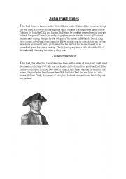 English Worksheets: John Paul Jones - Scottish/ American hero