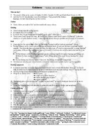 English Worksheets: Eskimos