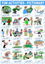 English Worksheet: FUN ACTIVITIES - PICTIONARY