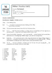 English Worksheets: practice paper