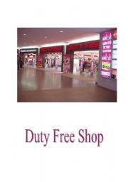 English Worksheets: duty free shop