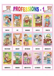English Worksheets: PROFESSIONS -1