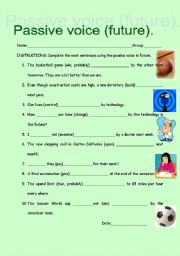 Active and passive voice worksheets for class 7 with answers