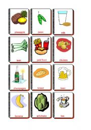 English Worksheet: Flashcards Food and drink 1