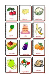 English Worksheet: Flashcards food and drink 2